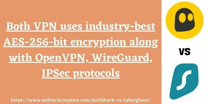 CyberGhost vs Surfshark VPN