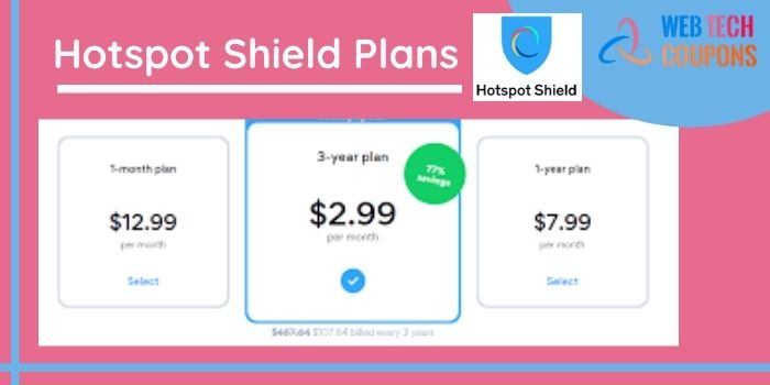 Hotspot Shield Plans