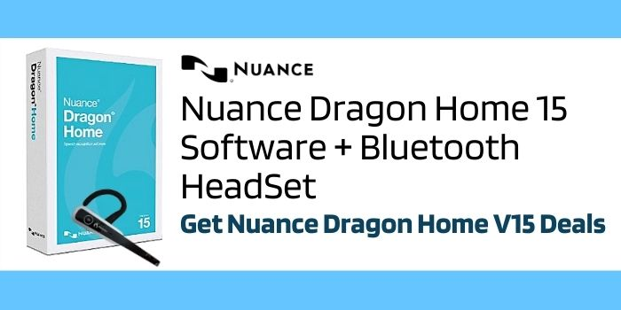 Nuance Dragon Home 15 Software + Bluetooth HeadSet