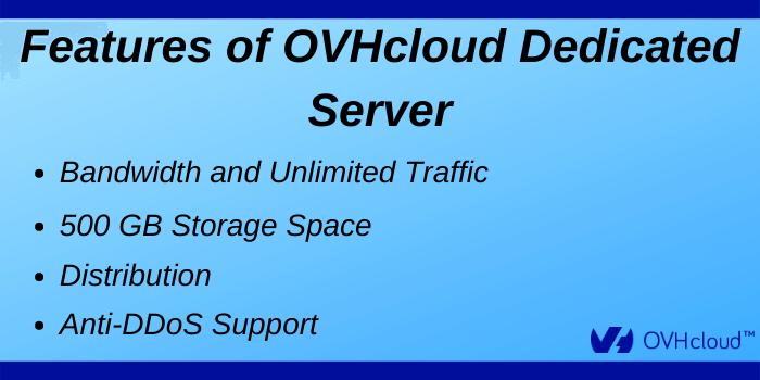 OVHcloud Promo Code - Features of OVHcloud Dedicated Server