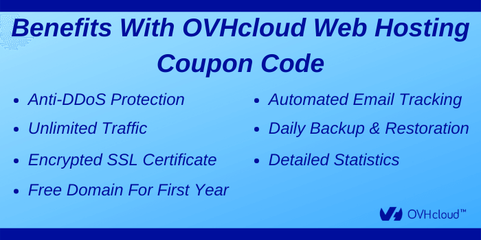 OVHcloud Web Hosting Coupon Codes - Benefits with OVHcloud Web Hosting Coupon Codes
