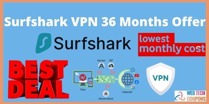 Surfshark VPN 36 Month Offer