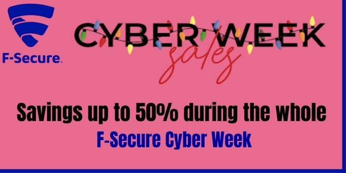 Up to 50% off during F-Secure Black Friday Sale