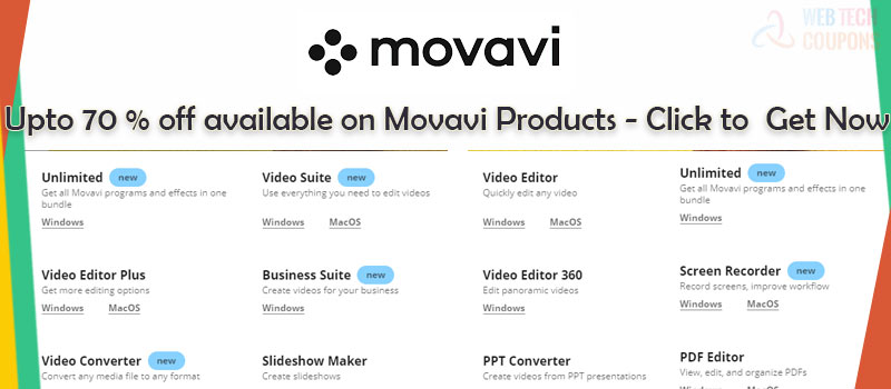 discount for movavi softwares available