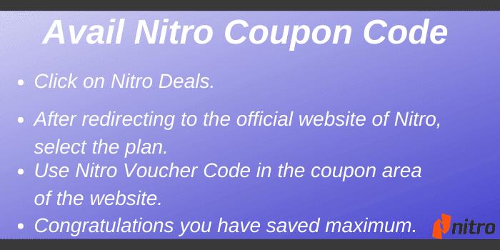 Avail Nitro Coupon Code