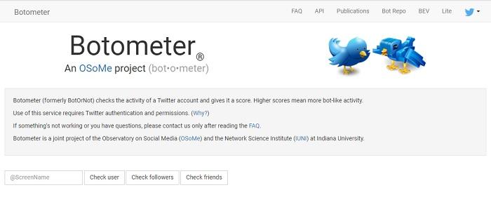 Botometer - Check Twitter Account Bot