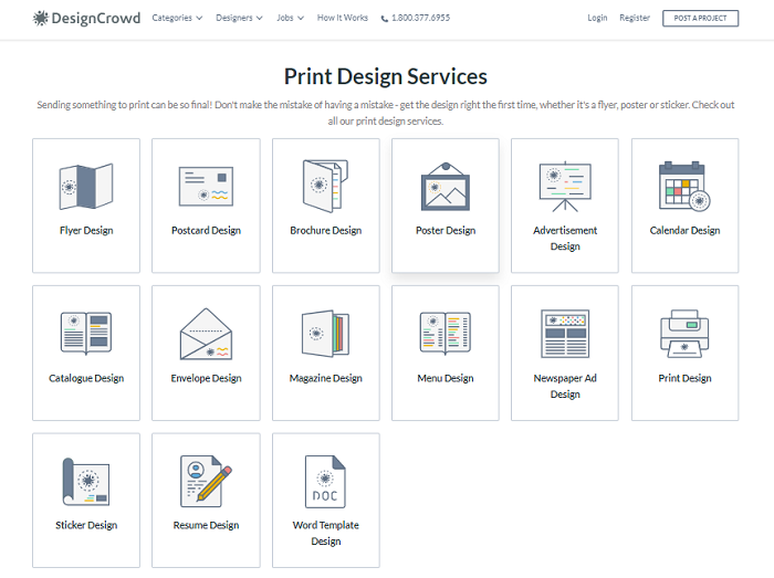 DesignCrowd Print Designs