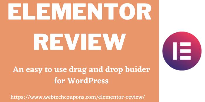 Elementor Review www.webtechcoupons.com