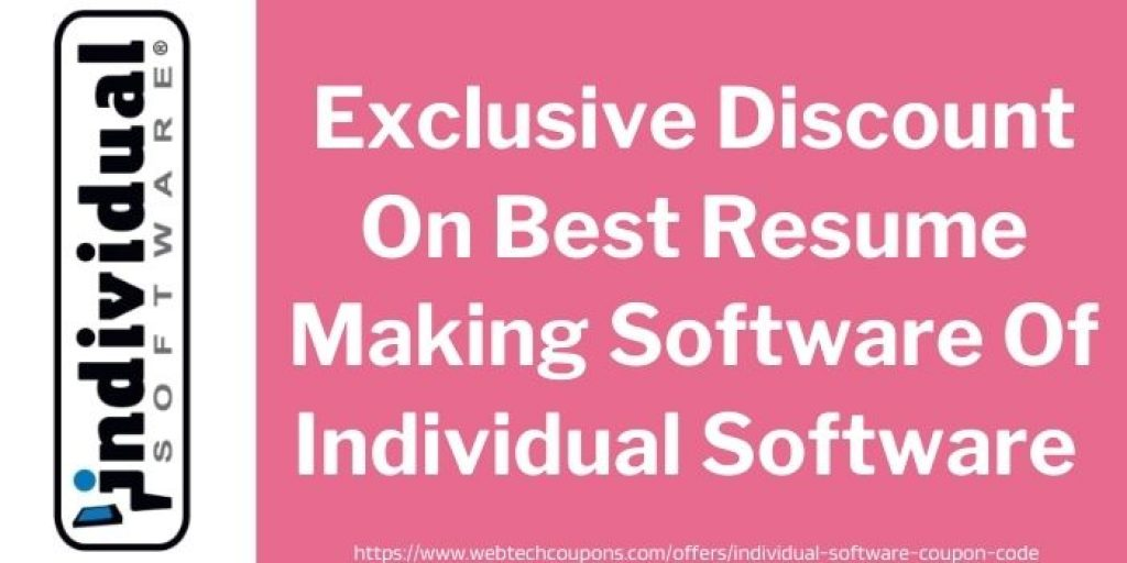 Exclusive Discount On Best Resume Making Software Of Individual Software