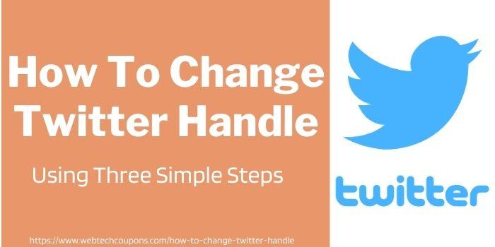 How To Change Twitter Handle On Desktop