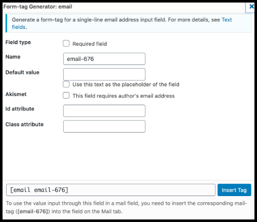 How to add email tag in contact form 7