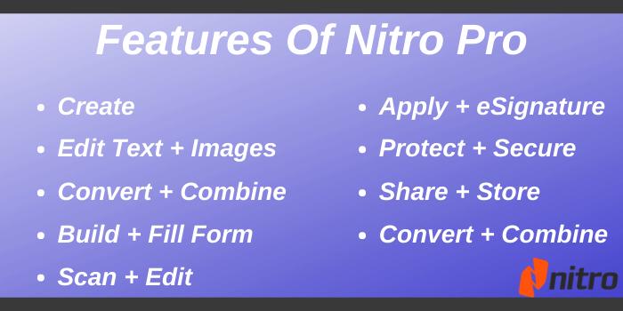 Nitro Coupon Code - Features of Nitro Pro