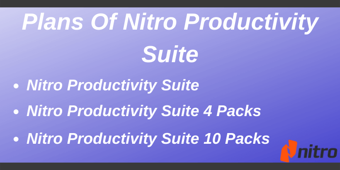 Nitro Discount Code - Plans of Nitro Productivity Suite