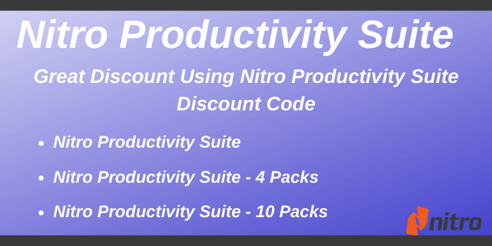 Nitro Productivity Suite Coupon Code