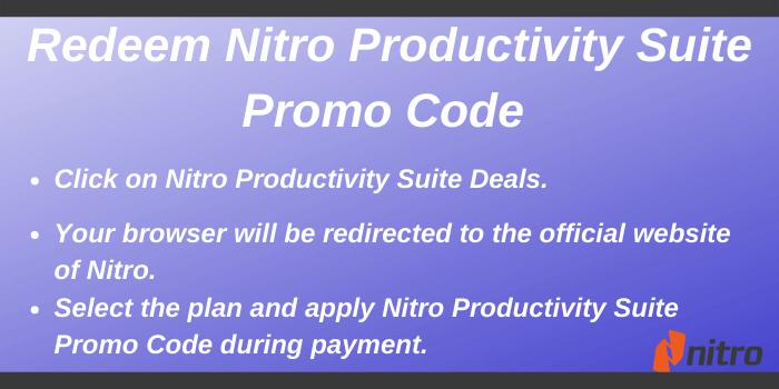 Nitro Productivity Suite Promo Code - Redeem Nitro Productivity Suite Promo Code