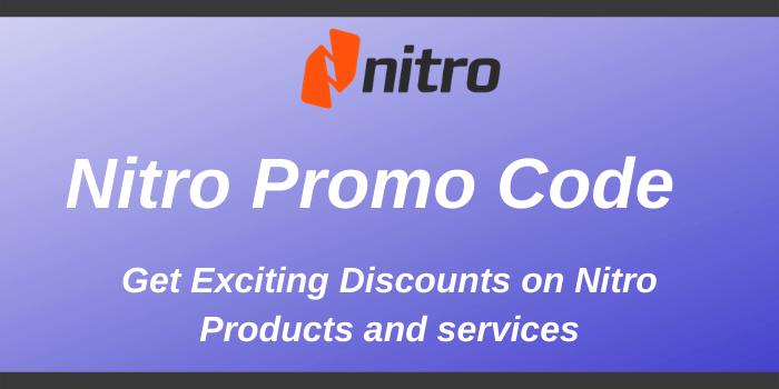 Nitro Promo Code