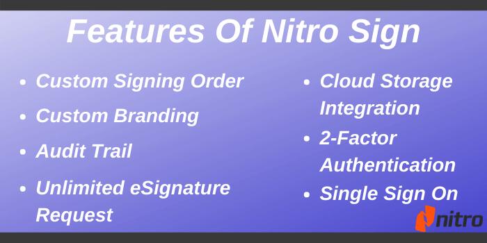 Nitro Voucher Code - Features of Nitro Sign