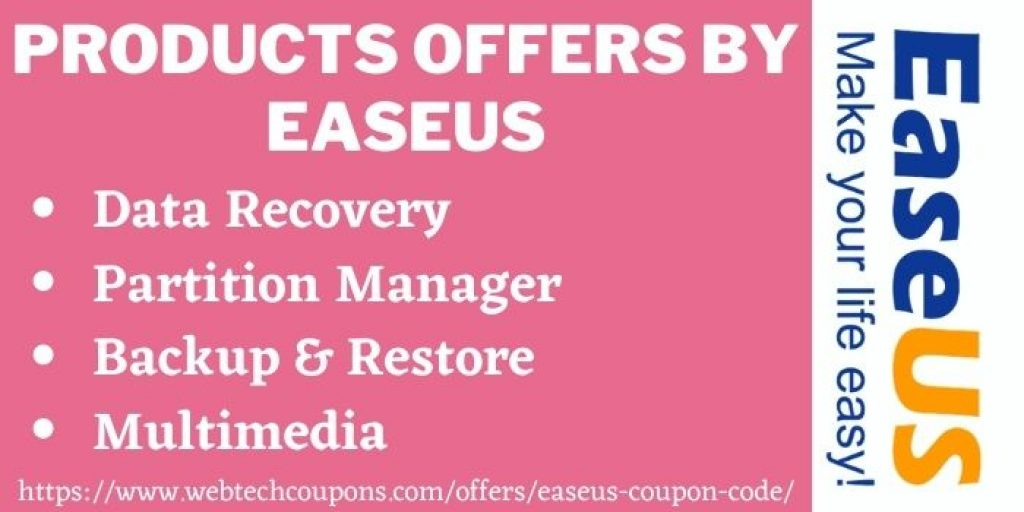 Products offers by EaseUs