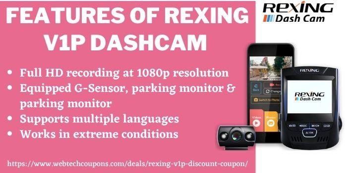 Rexing V1P Discount Coupon