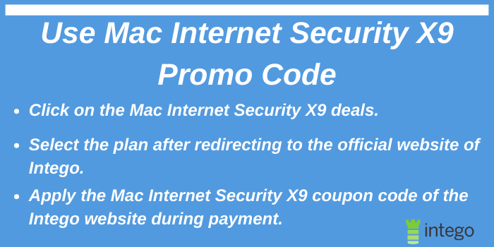 Use Mac Internet Security X9 Promo Code
