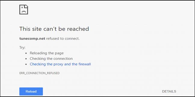 error connection refused