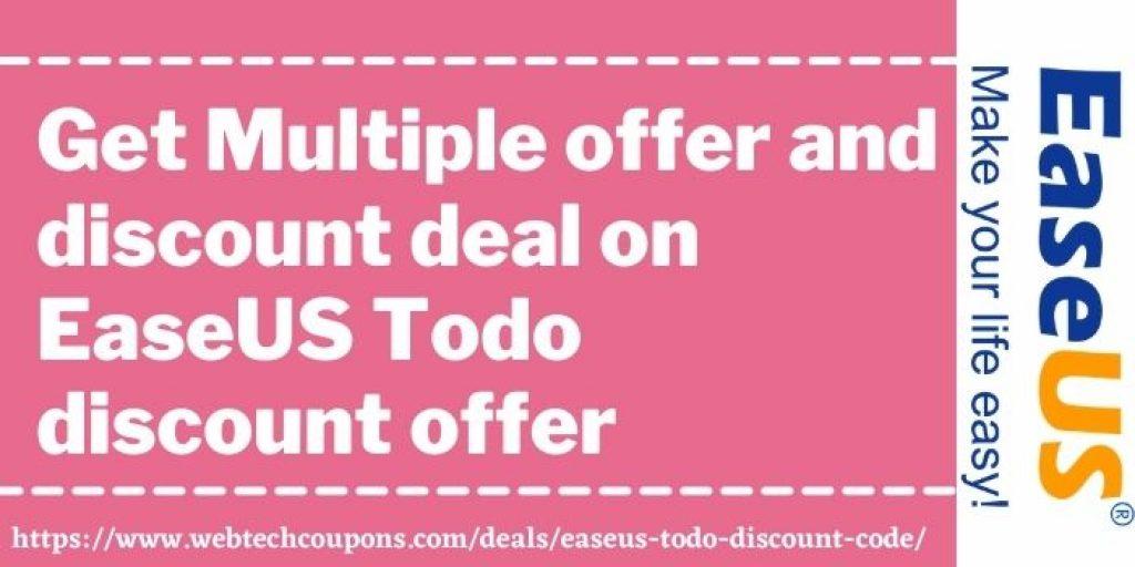 EaseUS Todo Discount offer