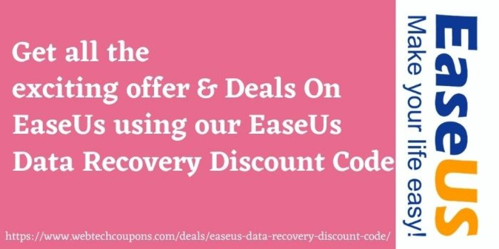 EaseUs Data Recovery Discount Offer