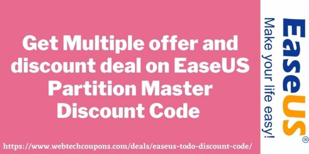 Easeus partition master discount offer