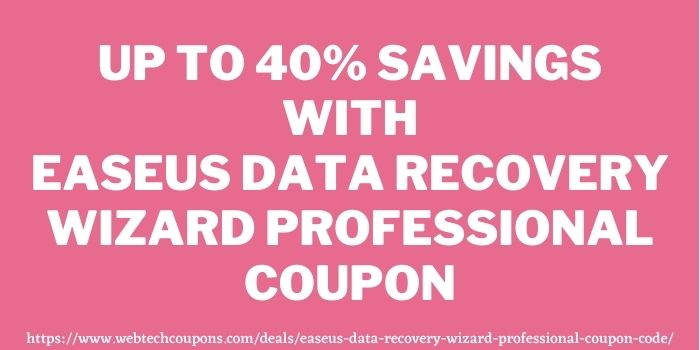 40 off EaseUS Data Recovery Wizard Pro Coupon