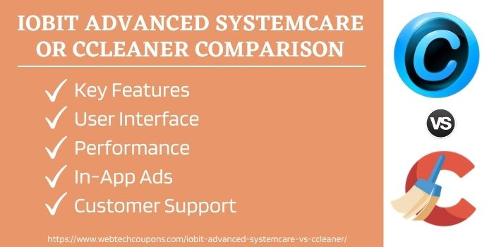 Advanced SystemCare and CCleaner comparison