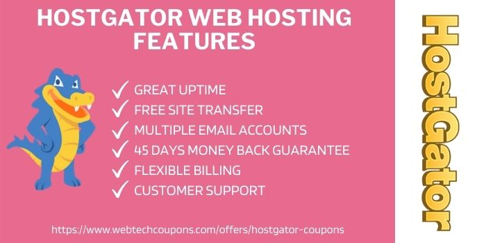 Hostgator WEb hosting Features