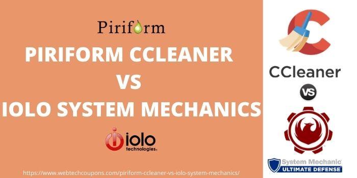 Piriform CCleaner vs Iolo system mechanics