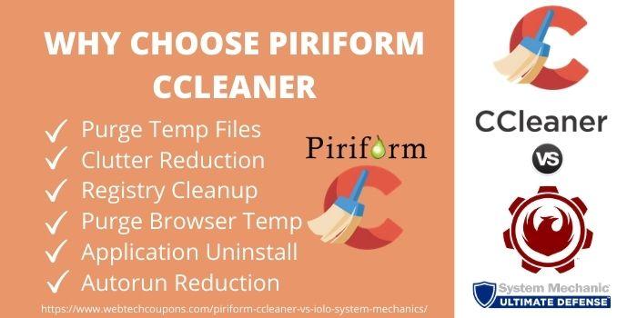 Why Choose Piriform ccleaner