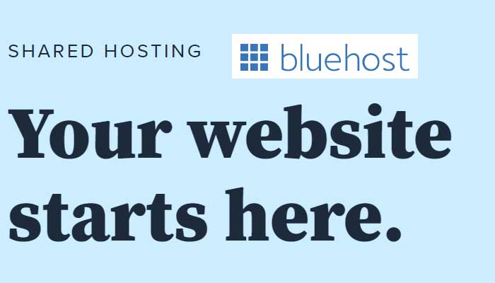 Start with Blue Host Shared Hosting Packages