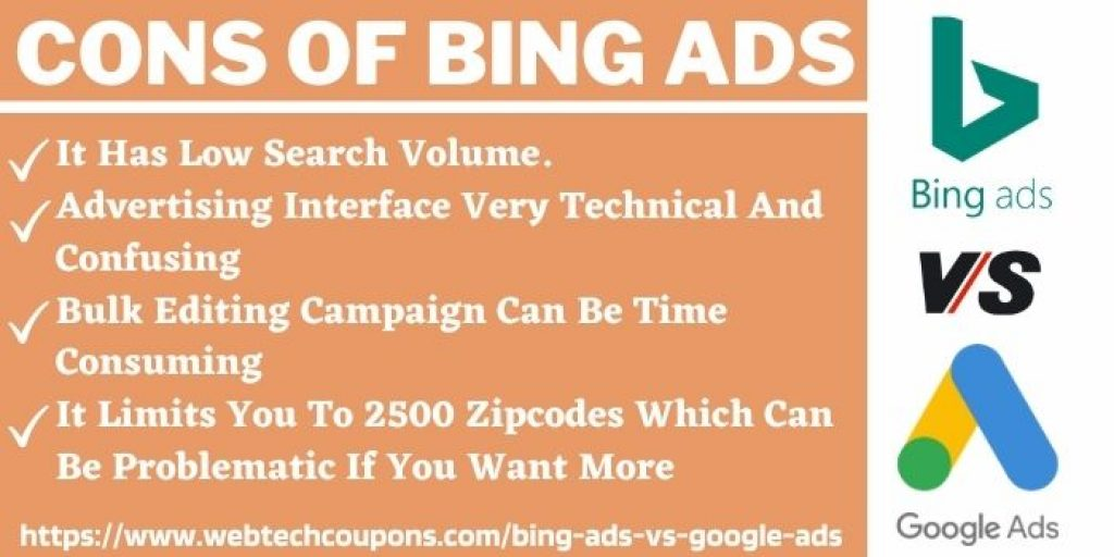 Cons Of Bing Ads