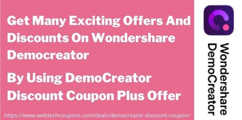 Democreator Discount Offer www.webtechcoupons.com