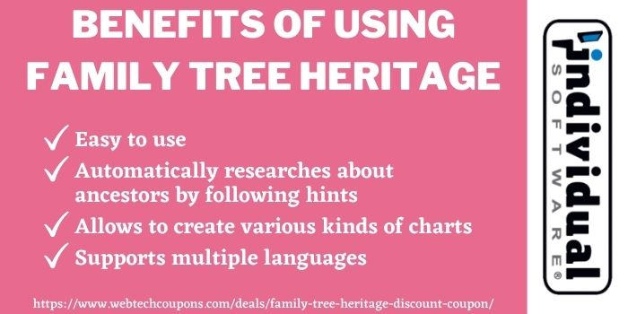 Individual software family tree heritage gold coupon
