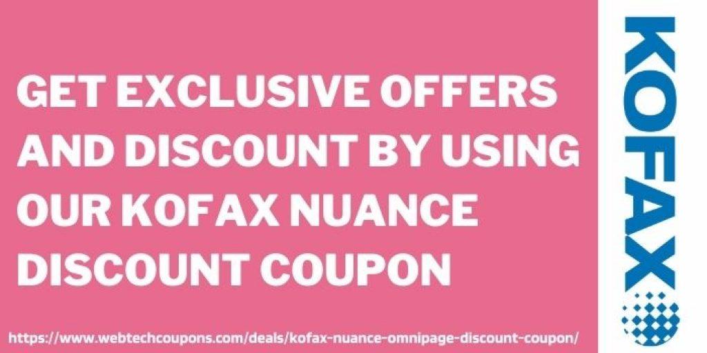 Kofax Nuance OmniPage Discount voucher www.webtechcoupons.com
