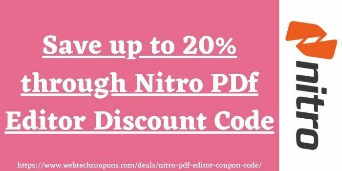 Nitro PDF Editor Discount Code