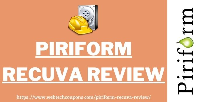 Piriform Recuva Review www.webtechcoupons.com