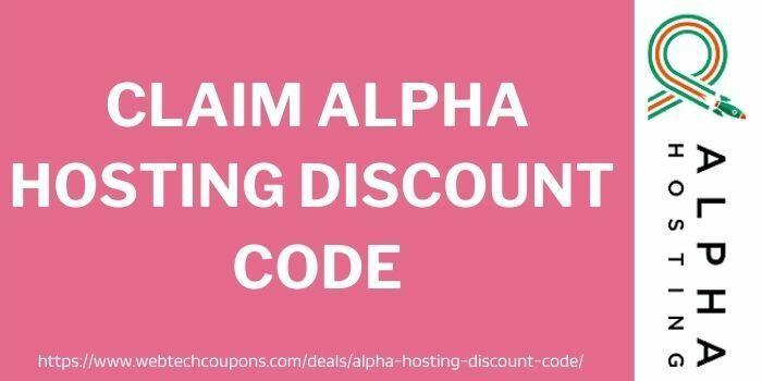 claim alpha hosting discount coupon code