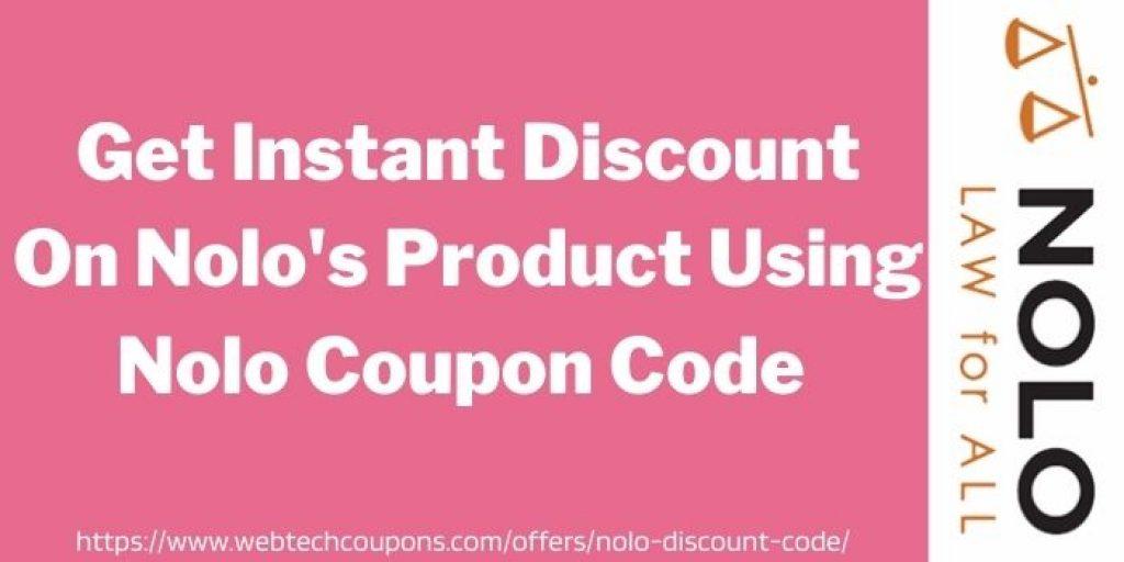 save upto 50% using nolo discount code www.webtechcoupons.com