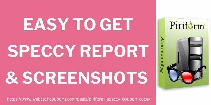 speccy report & screenshots