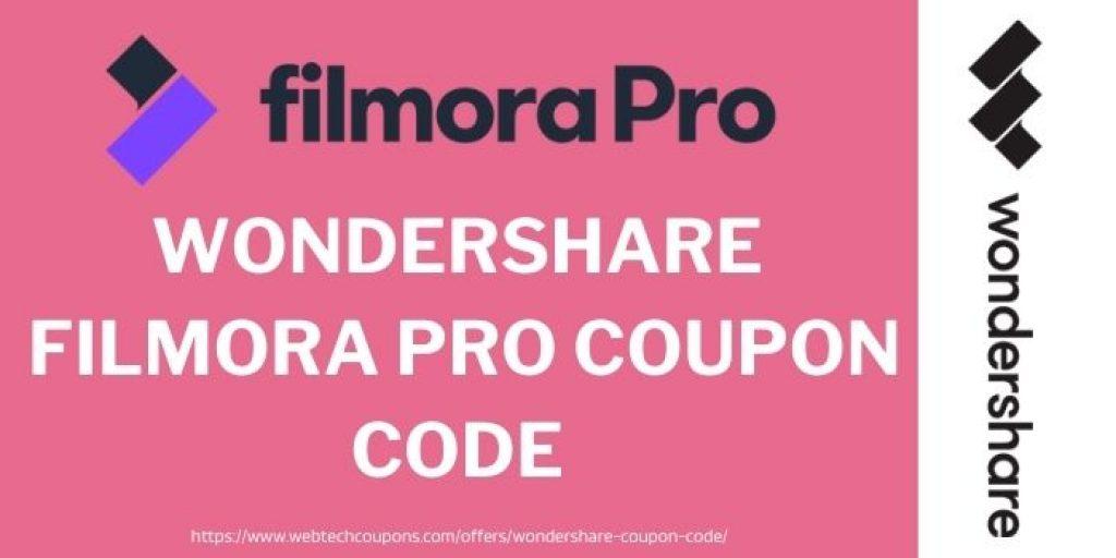 Filmora pro coupons