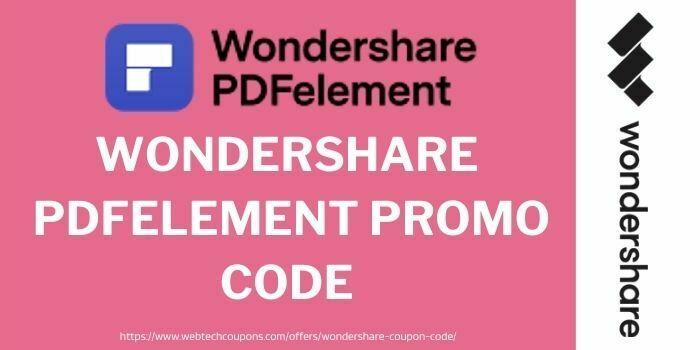 Wondershare pdfelement promo Code