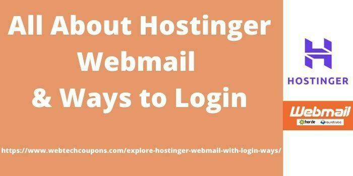 Hostinger WebMail with uses