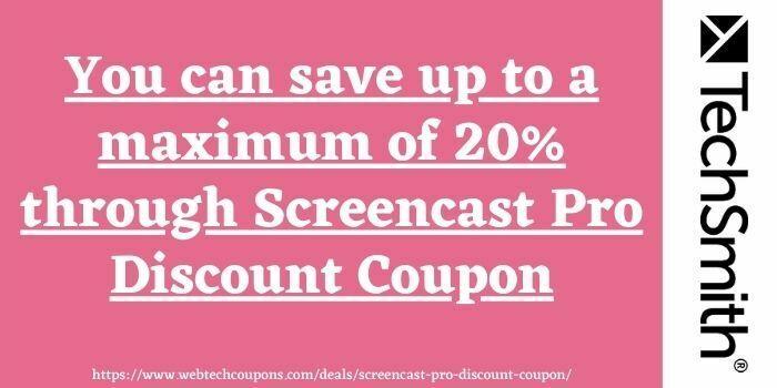 Screencast Pro Discount Coupon Code