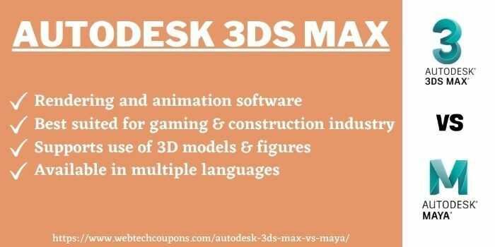 Autodesk 3ds Max or maya