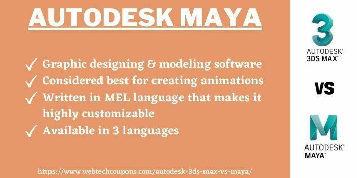 Autodesk 3ds Max vs autodesk maya