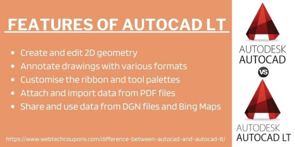 Features Of AutoCAD lt